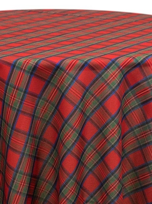 Linen - Holiday Plaid - Main Street Weddings & Events