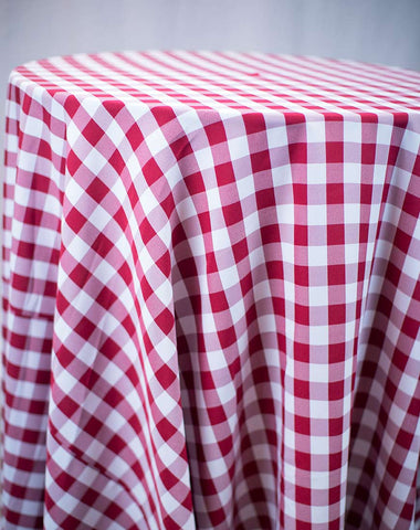 Linen - Red Gingham Check - Main Street Weddings & Events