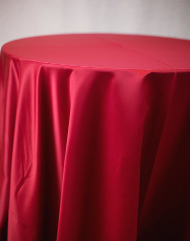 Linen - Red Matte Satin - Main Street Weddings & Events