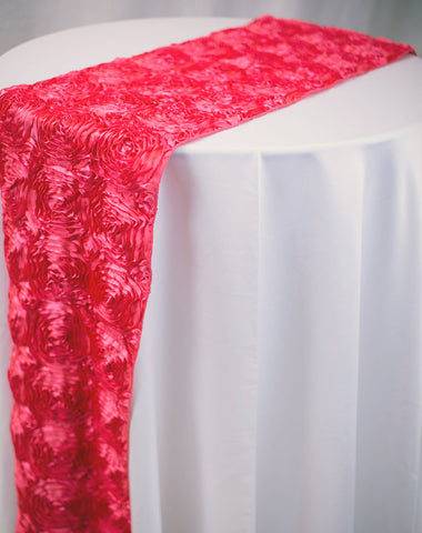 Linen - Red Rosette - Main Street Weddings & Events