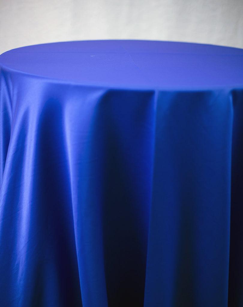 Linen - Royal Blue Matte Satin - Main Street Weddings & Events