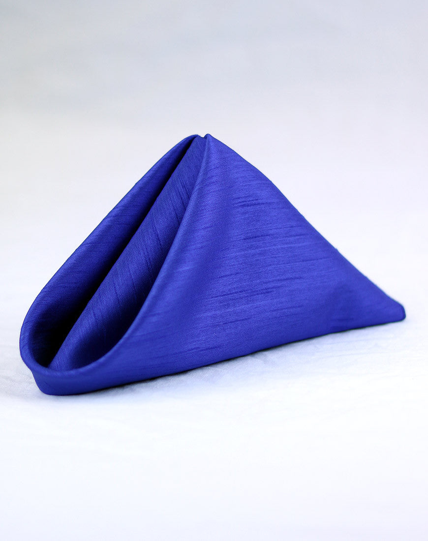 Linen - Royal Blue Shantung - Main Street Weddings & Events