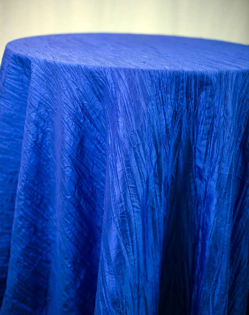 Linen - Royal Blue Accordion Taffeta - Main Street Weddings & Events