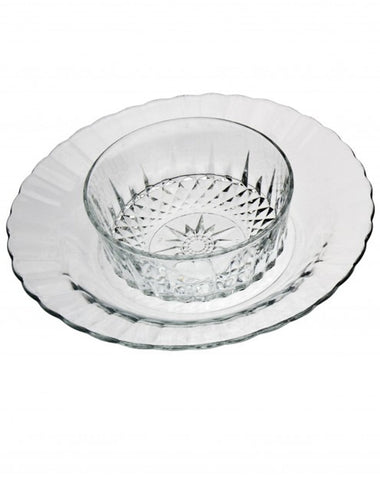 Tabletop - Ruffled Edge Glass Plate - Main Street Weddings & Events