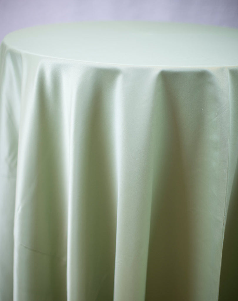 Linen - Sage Matte Satin - Main Street Weddings & Events