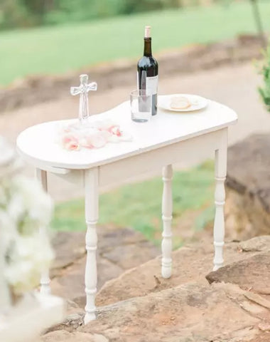 Table - Antique Side Table - Main Street Weddings & Events