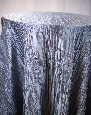 Linen - Silver Accordion Taffeta - Main Street Weddings & Events