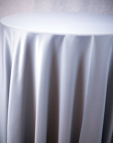 Linen - Silver Matte Satin - Main Street Weddings & Events