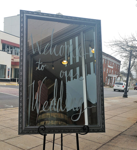 Decor - Silver Frame Mirror - Main Street Weddings & Events