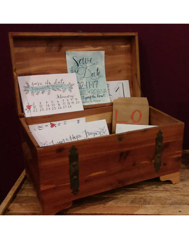 Decor - Tabletop Wooden Trunk - Main Street Weddings & Events