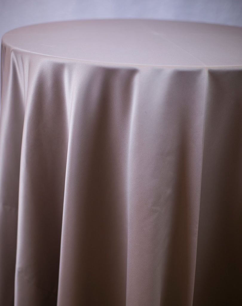 Linen - Taupe Matte Satin - Main Street Weddings & Events