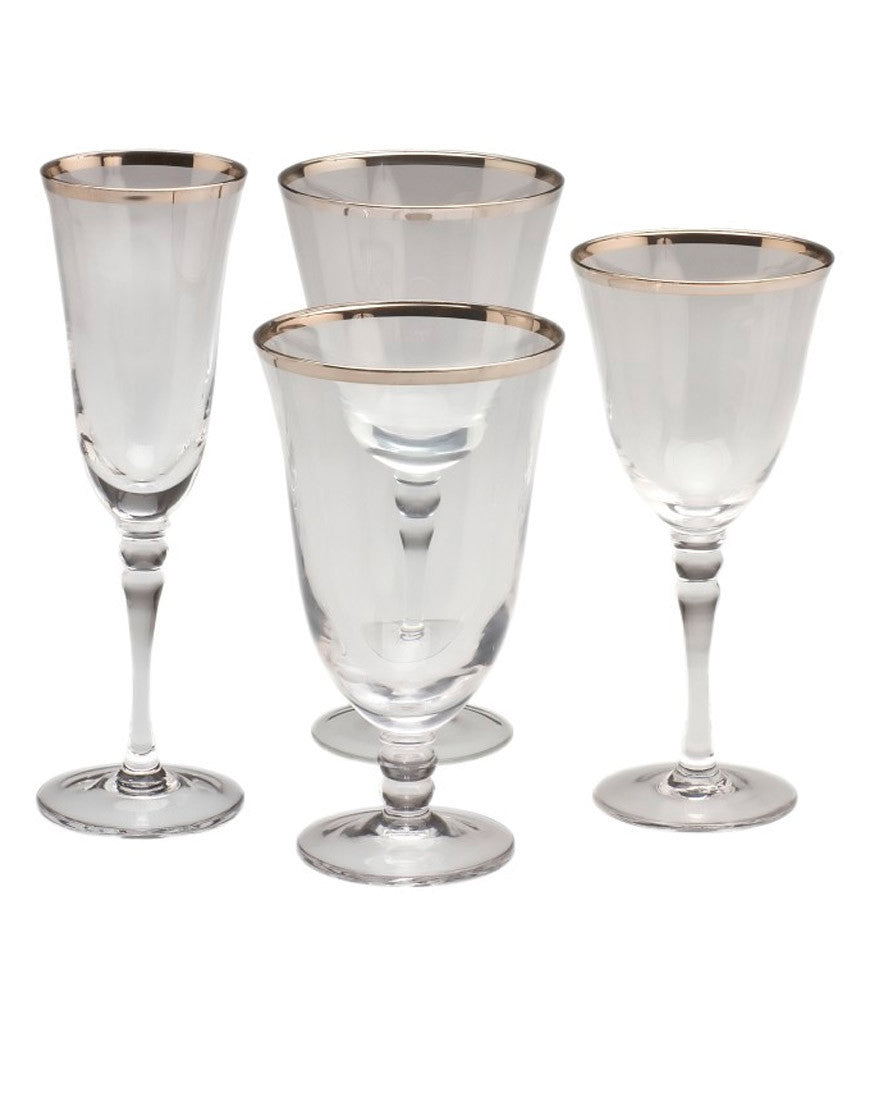 Tabletop - Venice Silver Glassware - Main Street Weddings & Events