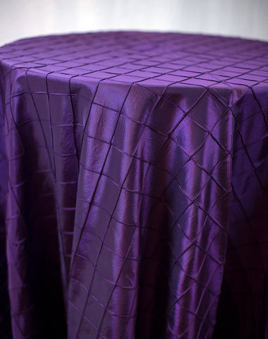 Linen - Violet Pintuck - Main Street Weddings & Events