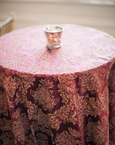 Linen - Waldorf Damask - Main Street Weddings & Events