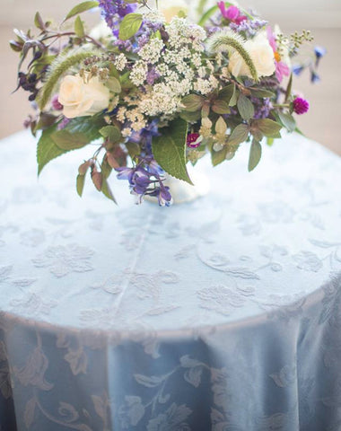 Linen - Wedgewood Damask - Main Street Weddings & Events
