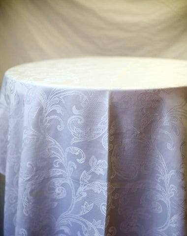 Linen - White Damask - Main Street Weddings & Events