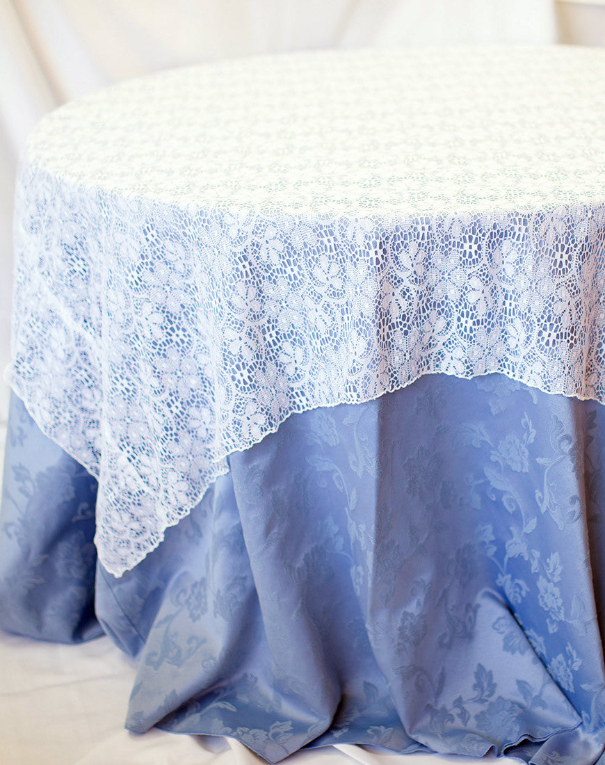 Linen - White Lace - Main Street Weddings & Events