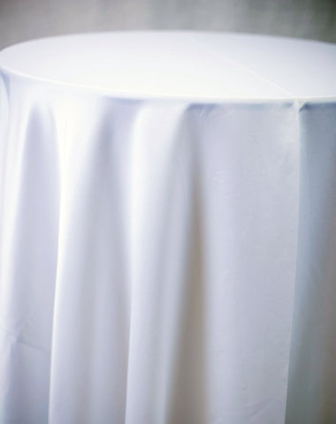 Linen - White Matte Satin - Main Street Weddings & Events