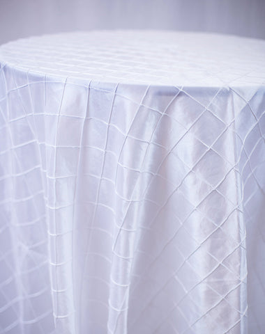 Linen - White Pintuck - Main Street Weddings & Events