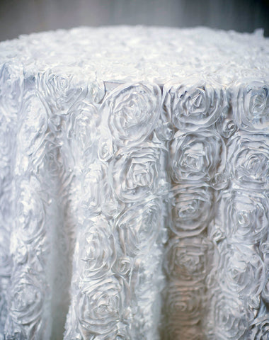 Linen - White Rosette - Main Street Weddings & Events