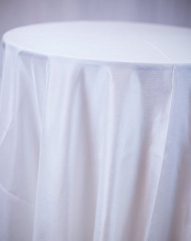 Linen - White Shantung - Main Street Weddings & Events