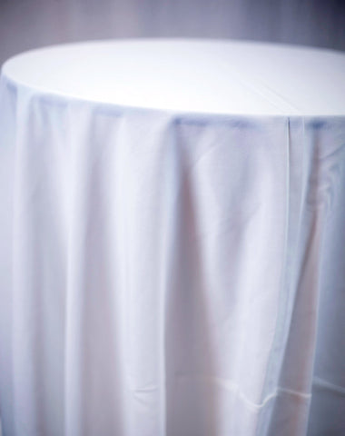 Linen - White Spun - Main Street Weddings & Events