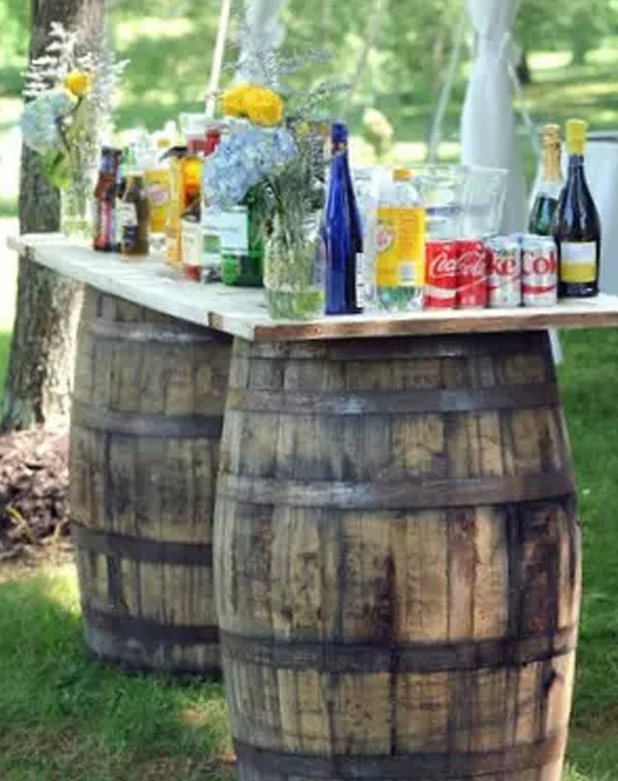 Table - Wine Barrel Table - Main Street Weddings & Events