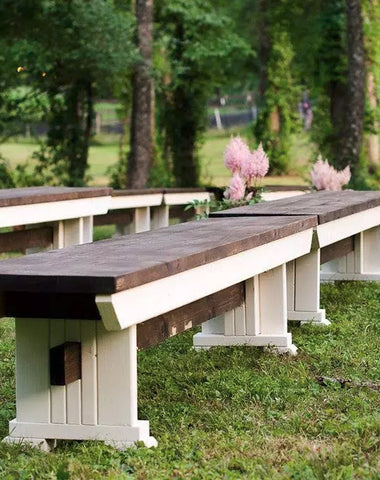 Seating - Wooden Benches - Main Street Weddings & Events