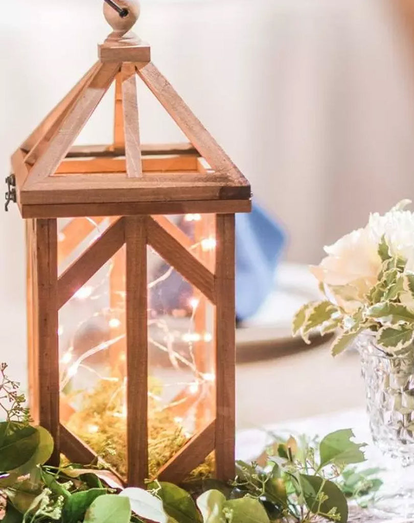 Decor - Wood Lanterns - Main Street Weddings & Events