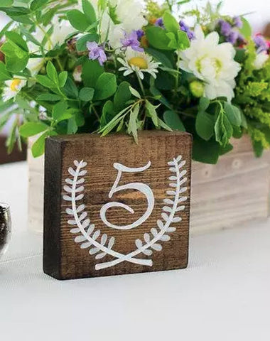 Decor - Wooden Table Numbers - Main Street Weddings & Events