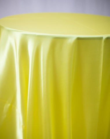 Linen - Yellow Satin - Main Street Weddings & Events