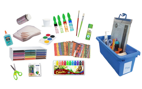 Enhanced Student Creative kit comes with individual storage tubs