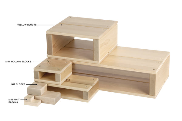 unit hollow blocks modularity community playthings louise kool collection reggio inspired