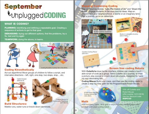 Click for pdf preview of Louise Kool Inspiration book -- September Unplugged Coding