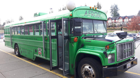 Aboriginal family resources AFROG  bus at Children at the heart of the Matter conference in BC
