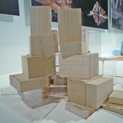 Abu Dhabi concept model in progress from Frank Gehry Studio.