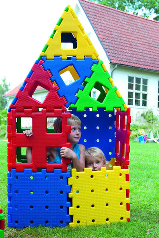 polydron outdoor building stem construction outdoors