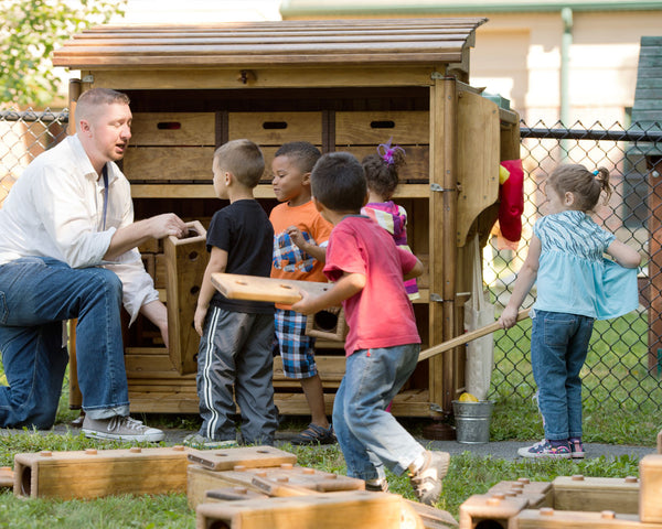 outlast outdoor play shed early childhood classroom learning regio inspired community playthings