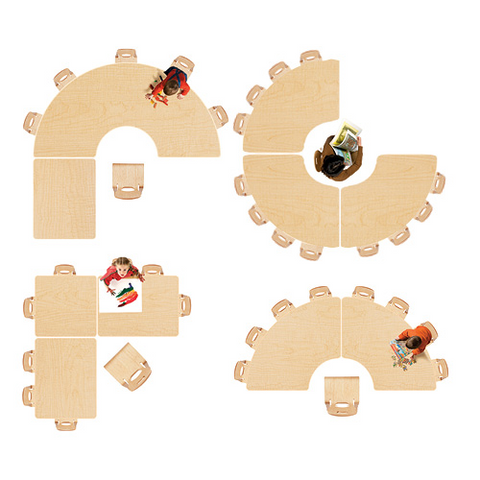 classroom tables configurations shapes from community playthings