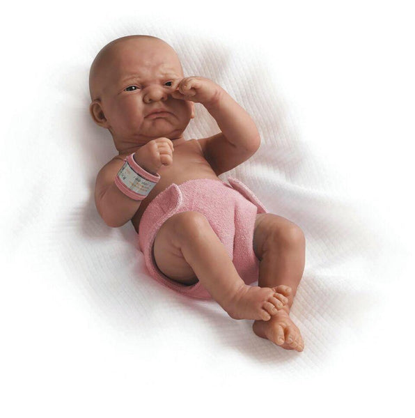 "14"" Realistic Newborn Doll -- Girl, White - louisekool"