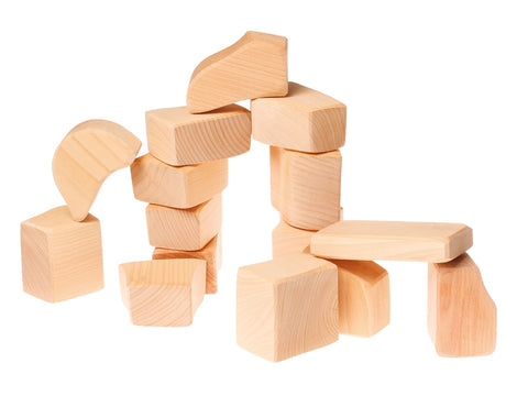 Natural Baby Blocks - Set of 15 - louisekool