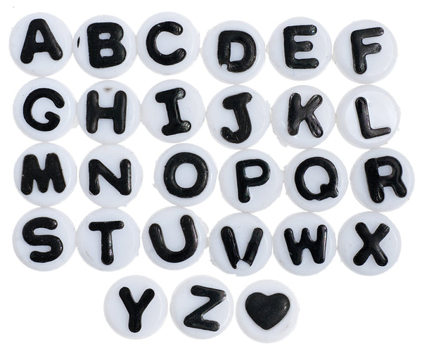 Acrylic Alphabet Beads Bulk Set - louisekool