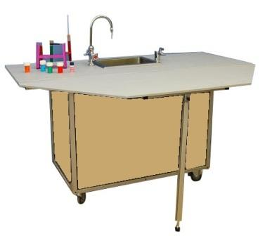 Activity table with Portable Sink- Maple - louisekool