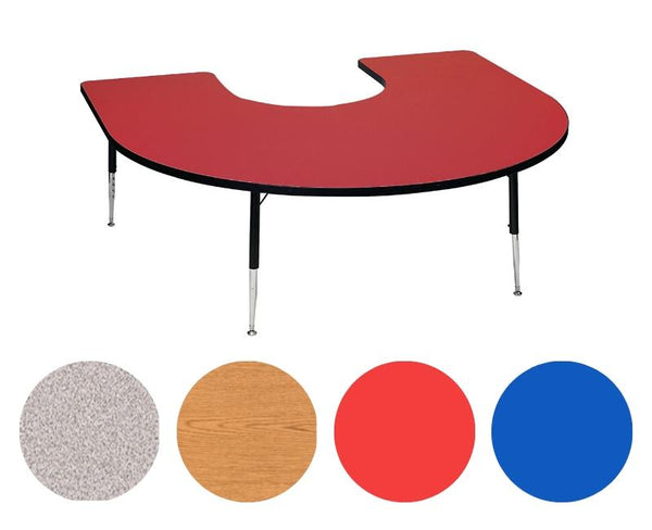 "Adjustable Tables - Horseshoe (60"" x 66""): Preschool Legs - louisekool"