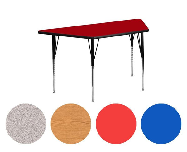 "Adjustable Tables - Trapezoidal (30"" x 60""): Preschool Legs - louisekool"