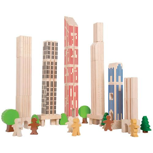 Big City Building Blocks - Set of 36 - louisekool