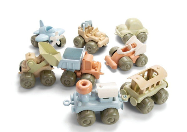 Bio Plastic Vehicles Set Of 8 - louisekool