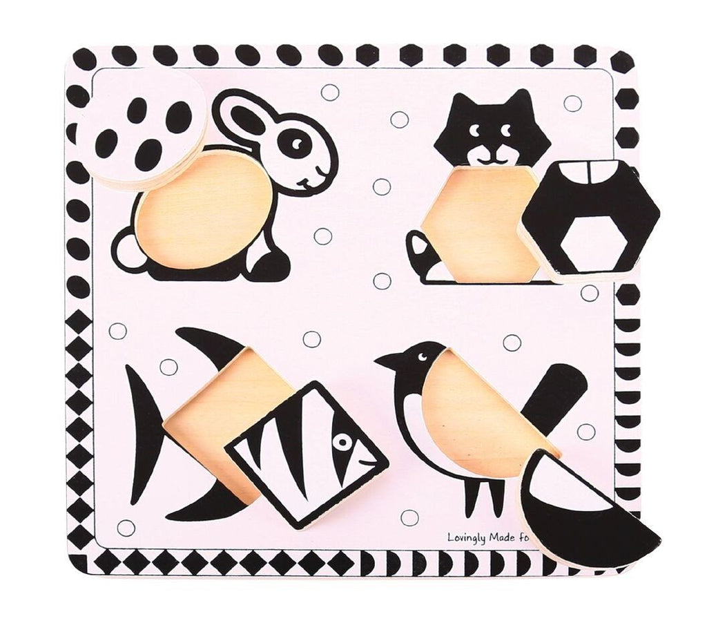 Black & White Animal Puzzles - Set of 2 - louisekool