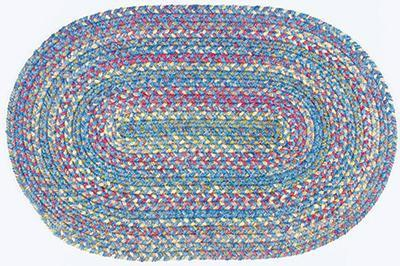 Botanical Isle Oval Braided Rug - louisekool
