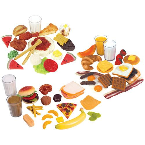 Breakfast, Lunch and Dinner Food Set of 78 - louisekool